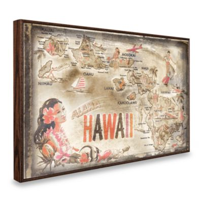 Vintage Greetings from Hawaii Wall Plaque