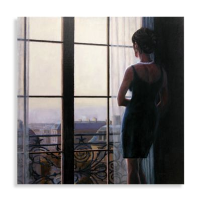 Waiting for Paris II Canvas Wall Art