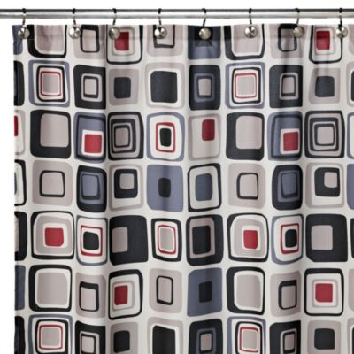 Blocks 70-Inch W x 72-Inch L Fabric Shower Curtain