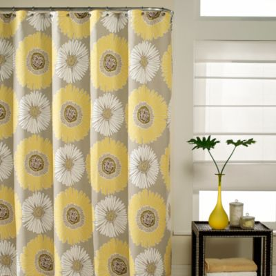 Bloom 72-Inch x 72-Inch Fabric Shower Curtain