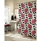 Flora 70-Inch W x 72-Inch L Fabric Shower Curtain