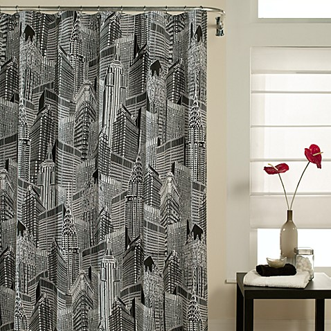 NYC 72-Inch x 72-Inch Fabric Shower Curtain
