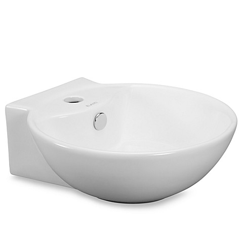Elanti EC9819 Porcelain White Wall-Mounted Deep Bowl Sink