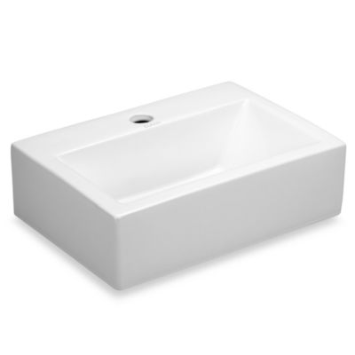 Elanti EC9859 Porcelain White Wall-Mounted Rectangle Sink