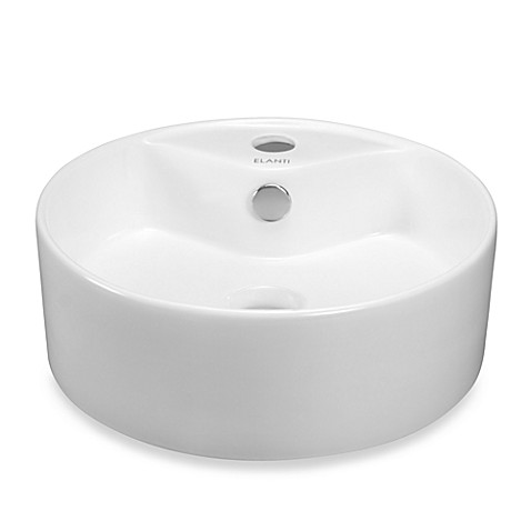 ... Porcelain White Above-Counter Round Bowl Sink from Bed Bath & Beyond
