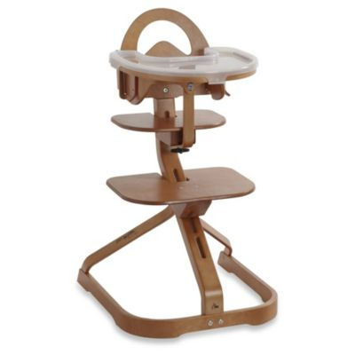Wood High Chair in Cherry