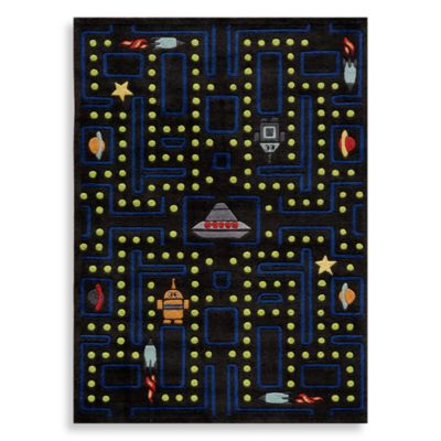 Momeni 'Lil Mo Whimsy LMJ-14 Arcade 5-Foot Round Area Rug in Black