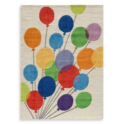 Momeni 'Lil Mo Whimsy LMJ-16 Multi Balloons Area Rug - 2-Foot x 3-Foot