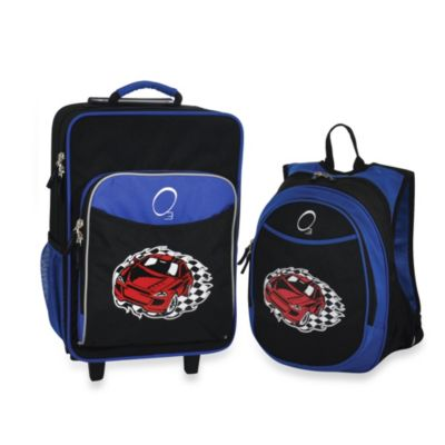 Blue Luggage and Backpack Set