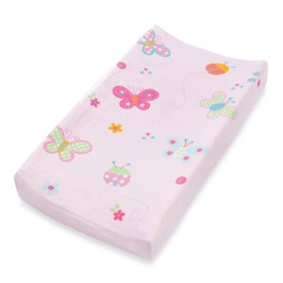 Summer Infant Plush Pals Changing Pad Cover in Butterfly Ladybug