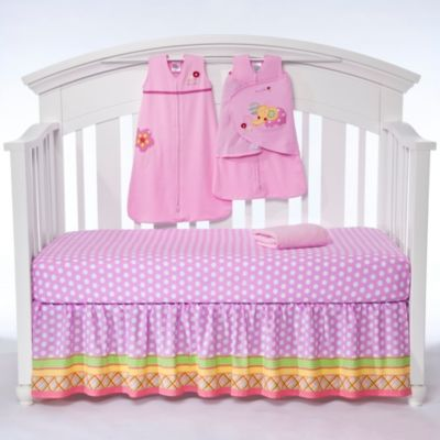 HALO® SleepSack™ Jumbo's Flower Garden 5-Piece Bumper-Free Crib Set