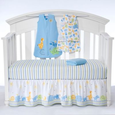 HALO® SleepSack™ Serengeti Blue 5-Piece Bumper-Free Crib Set