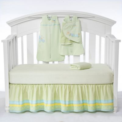HALO® SleepSack™ Friendly Caterpillar 5-Piece Bumper-Free Crib Set