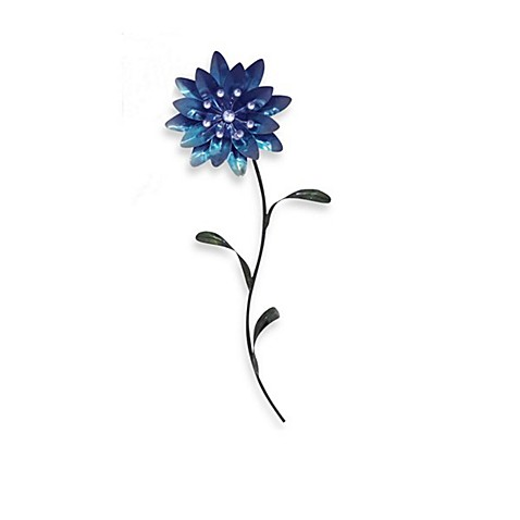 Metal Flower Wall Art - Blue II