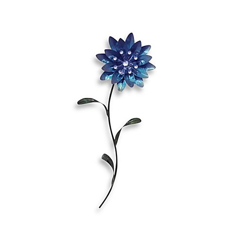 Metal Flower Wall Art - Blue I