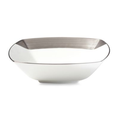 Mikasa® Ridge Platinum 7-Inch Square Soup Bowl
