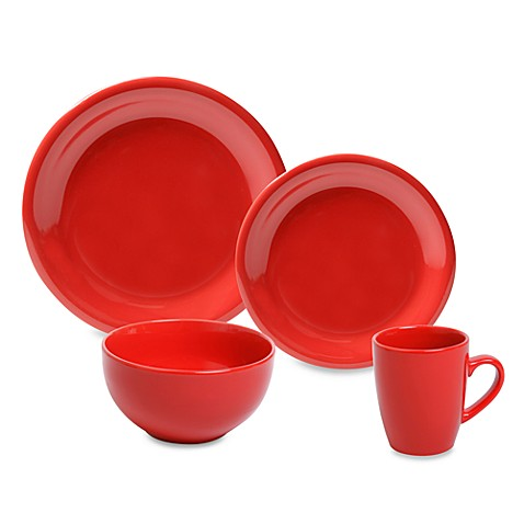 Better Basics Glazy Red Dinnerware