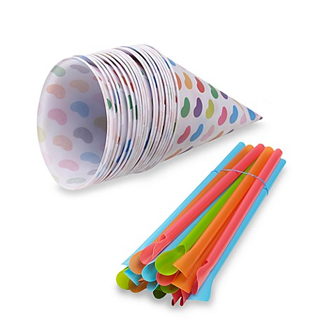 Jelly Belly™ Snow Cone Cups & Straws (Set of 20)