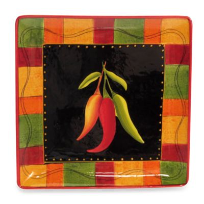 Certified International Caliente by Joy Hill 12 1/2-Inch Square Platter