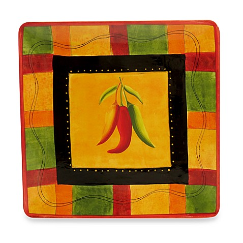 Certified International Caliente by Joy Hill 14 1/2-Inch Square Platter