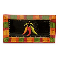 Certified International Caliente by Joy Hill 18 1/4-Inch x 10-Inch Rectangular Platter