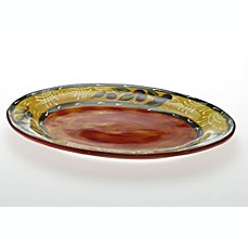 Certified International French Olives by Stephanie Vacher 17 3/4-Inch x 13-Inch Oval Platter