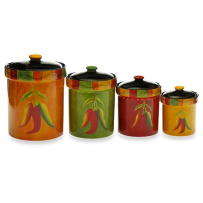 Certified International Caliente Canister Set (4-Piece Set)