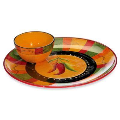 Certified International 2-Piece Caliente Chip and Dip Set