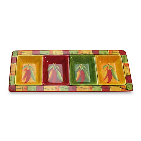 Certified International Caliente 4-Section Tray