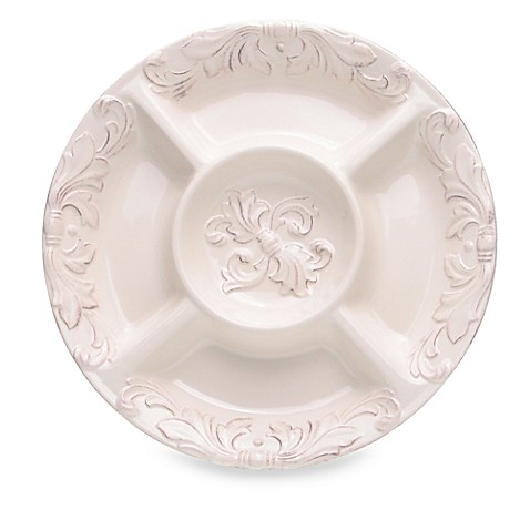 Certified International Firenze 5-Section Chip and Dip Bowl in Ivory