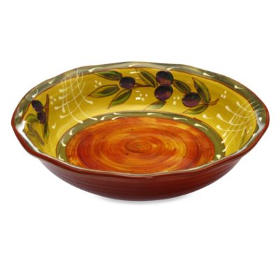 Certified International French Olives 12.5-Inch Pasta Serving Bowl