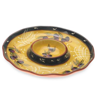 Certified International French Olives Chip and Dip Bowl