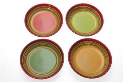 Certified International Hot Tamale 9.5-Inch Soup/Pasta Bowls (Set of 4)