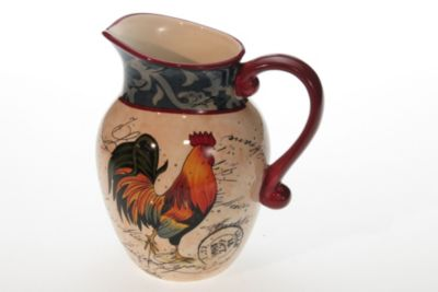 Certified International 2.25-Quart Lille Rooster Pitcher