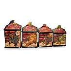 Certified International Wine Cellar Collection 4-Piece Canister Set