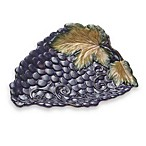 Certified International Wine Cellar Collection Three-Dimensional Grape Platter