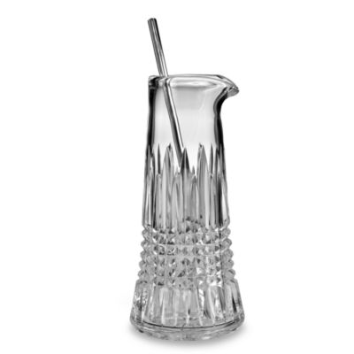 Waterford® Lismore Diamond Tall Martini Pitcher with Stirrer