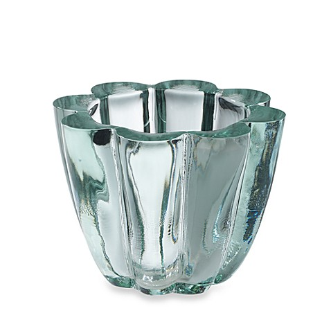 Shiraleah Clear Recycled Glass Scalloped Votive