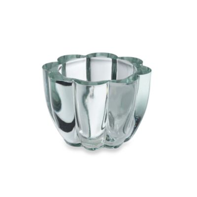 Shiraleah Clear Recycled Glass Scalloped Mini Votive