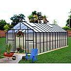 Riverstone Monticello Black 8-Foot x 24-Foot Residential Greenhouse