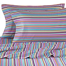Colorful Dreams Standard Pillow Case in Stripe Print (Set of 2)