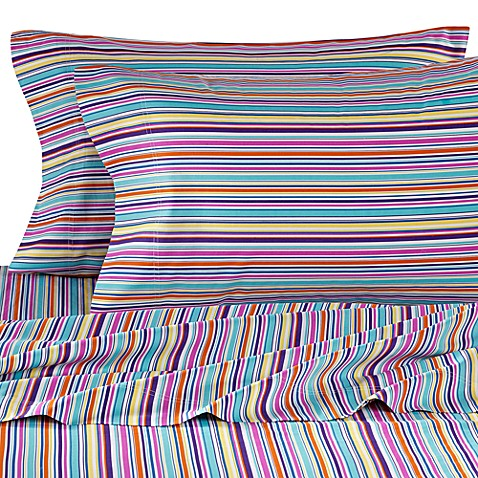 Colorful Dreams Full Sheet Set in Stripe Print