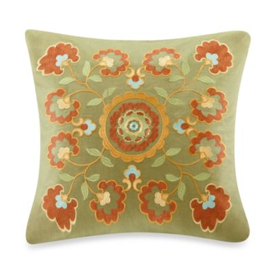 Harbor House Amber Embroidered 18-Inch Square Toss Pillow