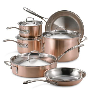 Tri-Ply Copper 10-Piece Cookware Set