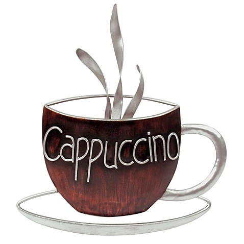 Cappuccino Metal Plaque