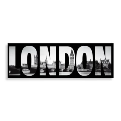 London Wall Art in Black