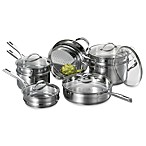 Cat Cora Stackable Stainless Steel 12-Piece Cookware Set and Cook 'n Serve Open Stock