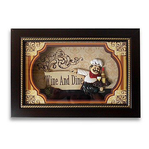 Wine and dine shadowbox wall art bed bath beyond for Wine and dine wall art