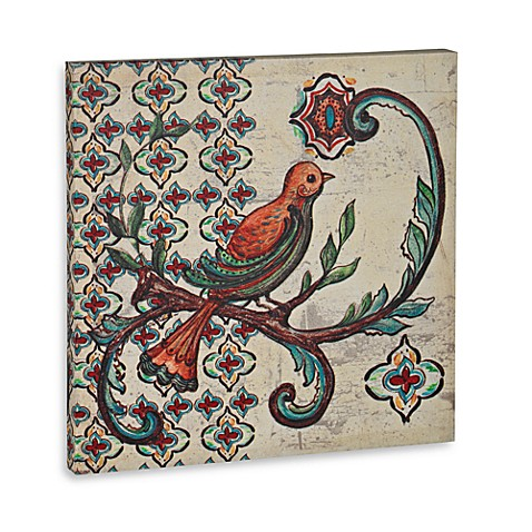 Canvas Bird Plaque
