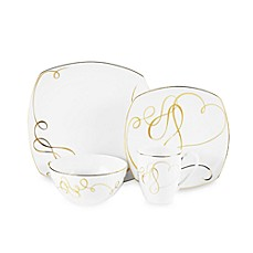 Mikasa® Love Story Gold Square 4-Piece Place Setting